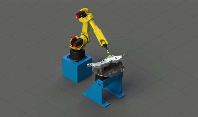 graphic rendering of robotics software