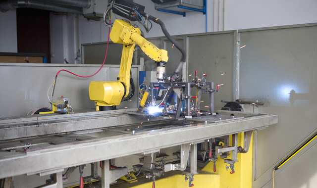 robotic machines in action