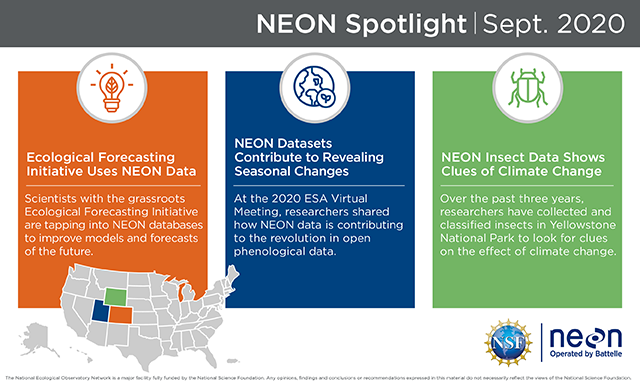 Battelle's National Ecological Observatory Network highlights from August
