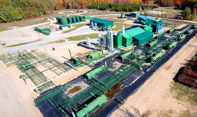 Core Energy's CO2-EOR processing facility in Michigan