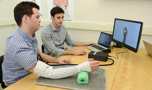 using Battelle's EMG system to assess stroke injuries