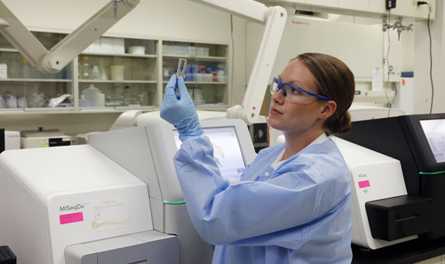 researcher working in an MPS lab