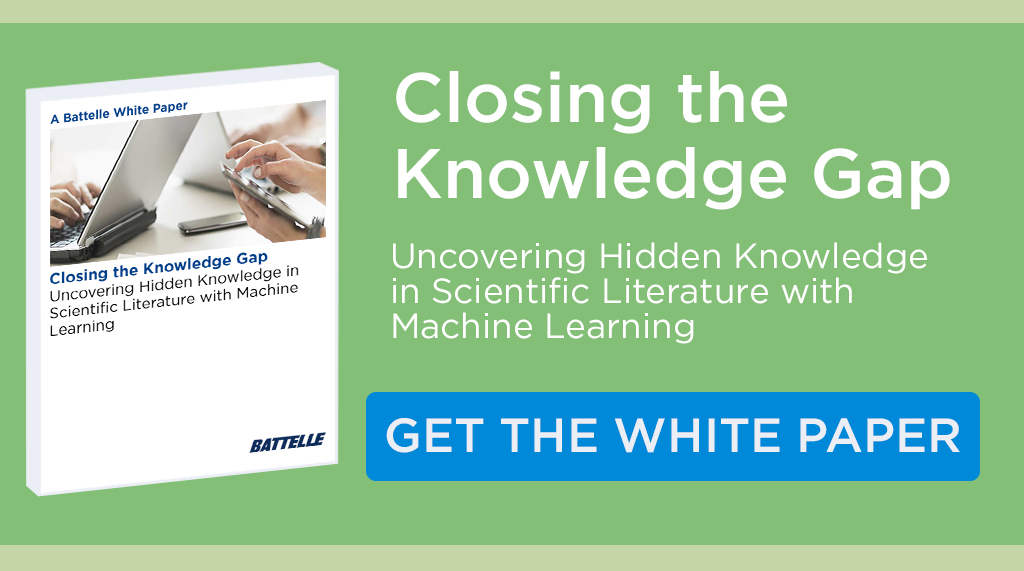 Download the white paper: Battelle Sematrix - Closing the Knowledge Gap